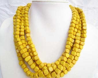 Infinity Necklace,Multi Strand Necklace,Chunky Necklace,Yellow Necklace,Bridesmaid Necklace,Wedding Gift idears,Statement Choker Necklace