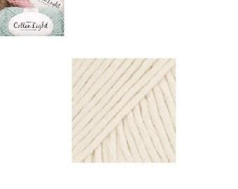 """Drops Cotton Light"", natural color yarn"