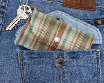 Mini Key Ring Card Wallet, Keychain Wallet, Key Wallet Card Holder, ID Holder Wallet, Travel Wallet, Slim Card Case, Front Pocket Wallet