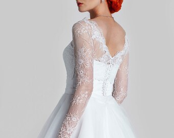 French Lace Bridal Bolero