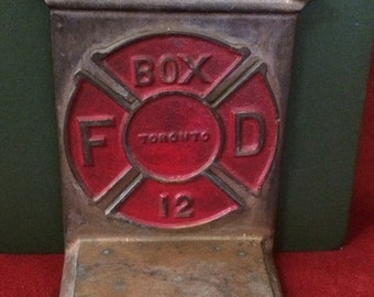 TORONTO FIRE STATION - Single Bookend, Brass    c.1940's