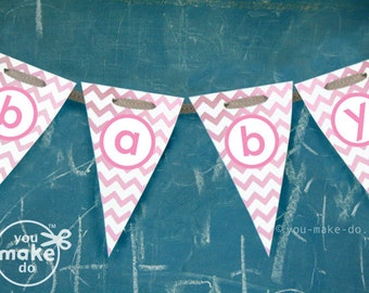 Baby Shower Decor Printables ~ Peach baby shower banner peach baby shower decorations baby