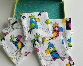 Washable wipes - wipes baby - birds