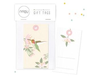 Gift tags - Hummingbird   10 pcs - 5 x 9 cm / 19.7 x 27.5 inches