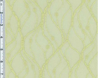 Pale Green Vine Stretch Mesh Lace, Fabric By The Yard