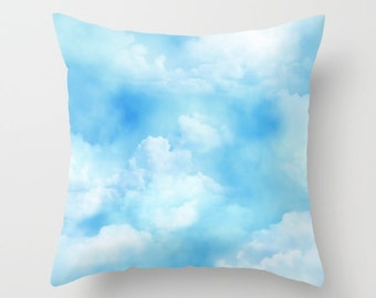 Cloud Pillowcase, Pillow Cover, Sky Pillow, Pillow Case, Nature Pillowcase, Blue Pillow, Nature Pillow, Accent Pillow, Home Decor, Boho Home