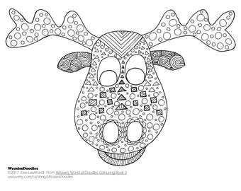 PDF Printable Colouring Page: Moose from Colouring Book 3