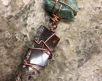 Chrysoprase and fuchsite Necklace