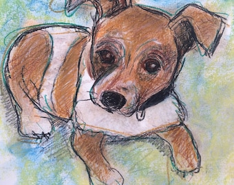 This is Tito. You would be ordering a custom sketch of your dog.