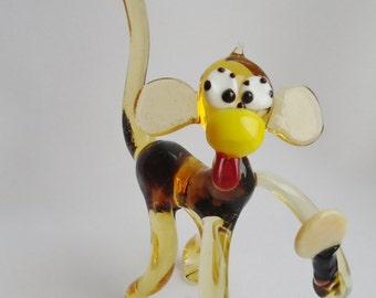 """Handmade Art Glass Figurine """"Ape"""" 11"""