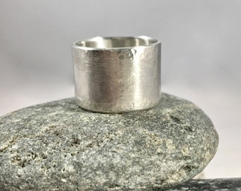 sterling silver band ring - wide band ring - wedding band - wedding ring - simple band ring - sterling silver band ring - hammered ring