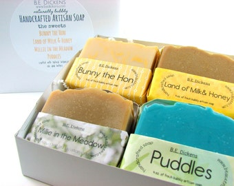 The Sweets Soap Gift Box, Honey Soap Gift, Milk Soap, Handcrafted Soap Gift, Shea Butter Gift, Soap Box Gift