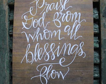 Praise God from whom all blessings flow Doxology PRINT