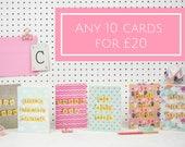 Greetings Card Bundle, 10...