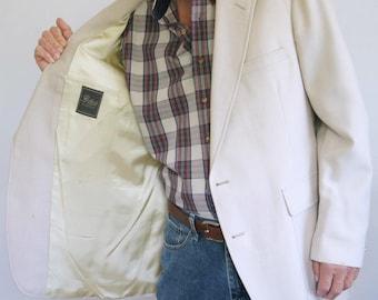 Sport Coat Men's Vintage Cream Summer Sportcoat Sport Jacket Size 46 Long
