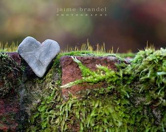Photography print: stone heart, gratitude, thank you, love, fine art print