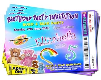 Build A Bear Party Invitations Build A Bear Workshop Bear