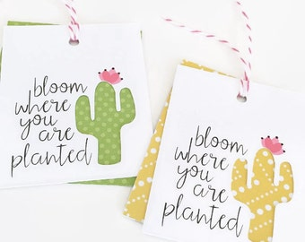 Cactus Gift Tags / Product Packaging Tags / Party Favor Tags / Gift Tags / Gift Wrap / Packaging Supplies / Paper Crafting / Kraft Tags