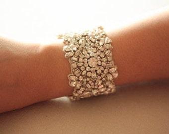 Wedding Crystal Bracelet   - Kristal Silver  (Made to order)