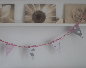 Nursery Bunting Girl Flags Baby Room Decor
