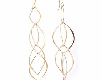 Fiore' Dangle Interlocking Earrings in Sterling Silver or Gold Filled