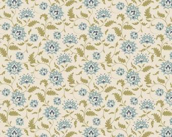 Tilda Ahlia teal fabric