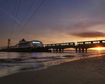Canvas_041: Bournemouth Pier Sunset