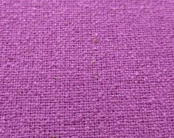 Vintage nubby linen fabric in vibrant purple