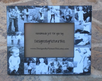 """Baby's First Year Collage Frame, Personalized Baby Frame, Unique Mother's Day Photo Gift, Father's Day Gift, Christmas Gift, 5"""" x 7"""""""