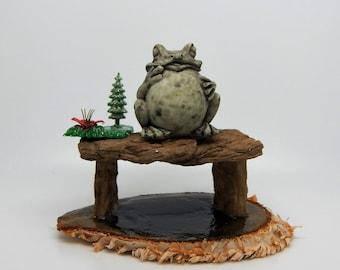 Whose Got a Santa Belly? -  A Frog Ornament