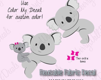 Koala Decal, Nursery Decor, Kids Room Fabric Wall Decal (Koala Only)