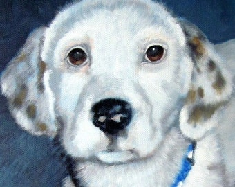 Original Custom Pet Portrait painting from your photo, oil painting on canvas, dog portrait or any animal painting, example Dalmatian