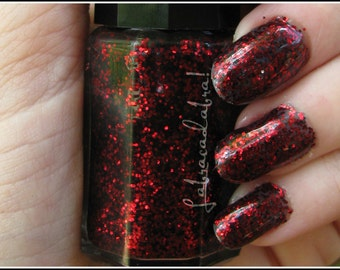 Vampire Vomit - Labracadabra Red & Black Glitter Nail Polish