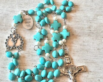 Large Howlite Turquoise Rosary