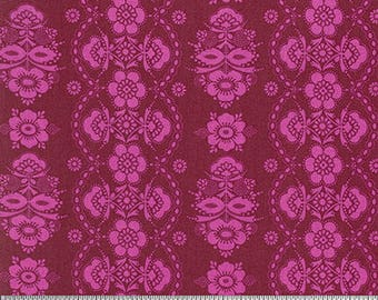 Color Brigade by Jennifer Paganelli for Free Spirit - McLisa - Maroon - 1/2 yard cotton quilt fabric