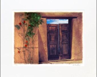 Tesuque Doors,  20 x 24 Original, Signed and Matted Fine Art Print