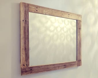 Re-claimed wooden mirror