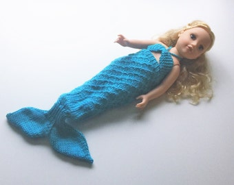 Mermaid Doll Knitting Pattern - Fits all 18-inch dolls - Easy and Fun and Very Trendy!