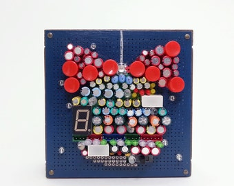 Unique Christmas Decoration, Christmas Ornament, Holiday Gift, Unique Gift, Electronic Components Art