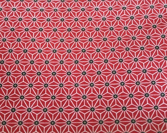 Fabric coated graphic 50 x 70 cm red and white