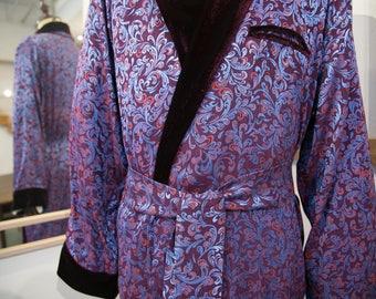 NEW Silk Men Sleeping Gown, Christmas Gift, Homewear, Silk Natural Night Dress, Wedding Gift, Hospital Gown.