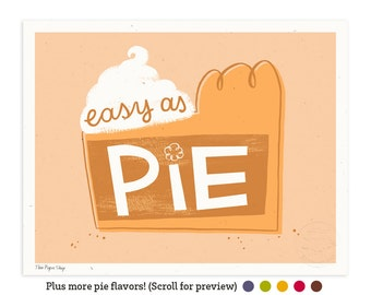 Easy as Pumpkin Pie Illustrated Art Print