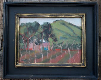 California Plein Air Landscape Oil Painting Original Art San Francisco Bay Area Cherry Glen Road Vacaville California Artist USA Made Art