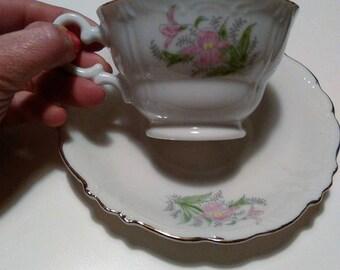 Original 40 years by tea service-fine porcelain Japanese, 6 cups, full teapot, sugar bowl, milk cartons