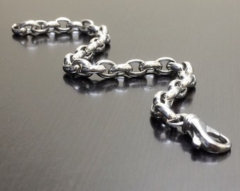 Sterling Silver Bracelet - Silver Link Bracelet - Silver Charm Bracelet - Handmade Bracelet - Silver Bracelet - Sterling Bracelet - Bracelet