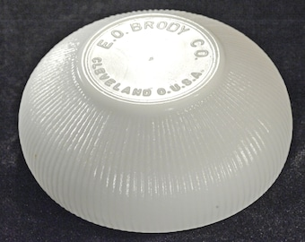 """Milk Glass Ribbed Bowl, E.O. Brody, 6 1/2"""" Diameter- (Contact to request actual ship cost for multi items)"""