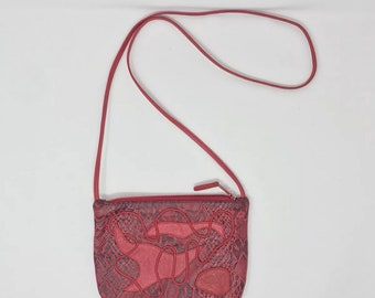 Vintage carlos falchi Red Crossbody handbag