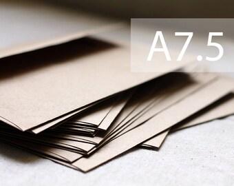 "A7.5 Kraft Envelopes - A7 Outer Kraft Envelopes - (25) Outer Kraft Envelopes (5-1/2 X 7-1/2"") - Kraft Brown Recycled - Wedding Envelopes"