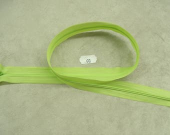 Invisible zipper-60 cm - lime green