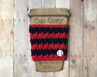 Boston Red Sox, Coffee Sleeve, Cup Cozy, Cup Holder, Coffee Cup Cozy, Cup Sleeve, Coffee Cozy, Coffee Cup Sleeve, Reusable Coffee Sleeve